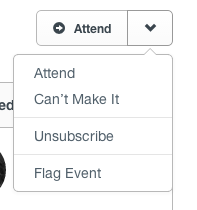 Event Page Dropdown